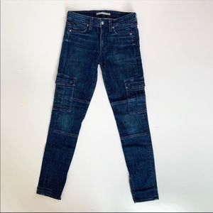 Vince Skinny Moto Cargo Jeans Size 27 High waist